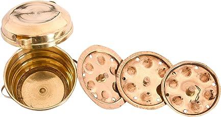 Desi Toys Brass Idli Patra, Gold