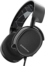 SteelSeries Arctis 3 Gaming Headset with 7.1 Surround for PC, Playstation 4, Xbox One, Nintendo Switch, VR, Android and iOS (Black)