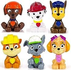 Paw Patrol – Skye, Chase, Marshall, Rubble, Zuma und Rocky – 6 x Mini-Sammelfiguren 5 cm