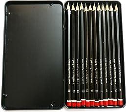 Kurtzy Drawing Sketching 12 shade Pencil Set B 2B 3B 4B 5B 6B 7B 8B HB H 2H F