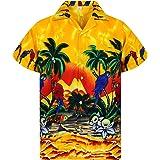 Funky Camisa Hawaiana Señores | XS -12XL | Manga Corta | Bolsillo Delantero | impresión De Hawaii| Loro