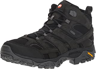 Merrell Men's Moab 2 Smooth Mid Waterproof Hiking Boot Black 7 D(M) US