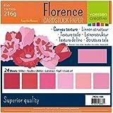 Vaessen creative 2923-104 Florence Papier Cartonné, Couleurs Roses, 216g, 12,5 x 12,5 cm, 60 Feuilles, Surface Texturée, pour