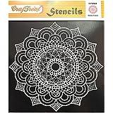 Craftreat Mandala Stencil for Cake - Mandala Template- Size: 6X6Inches - Reusable DIY Cake Stencil - Mandala Stencils Desig