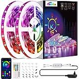Ruban LED 15M, Tenmiro Bleutooth Led Chambre, Bande Led Contrôlé par Télécommande APP, Synchroniser avec Rythme de Musique, L