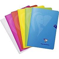 Clairefontaine 303682C - Un carnet piqué Mimesys 96 pages 14,8x21 cm 90g petits carreaux, couverture polypro (plastique…