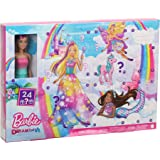 Barbie Dreamtopia Adventskalender: Blonde Barbiepop, 3 sprookjesachtige popmode, 10 accessoires en 10 verhalen vertellen stuk