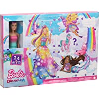 Barbie GYN36 - Dreamtopia Adventskalender: Blonde Barbie-Puppe, 3 Prinzessinnen-Moden, 10 Accessoires und 10…