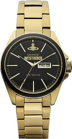 vivienne westwood men s camden lock quartz analogue display watch vivienne westwood men s camden lock quartz analogue display watch black dial and gold stainless steel