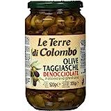 Le Terre di Colombo - Olive Taggiasca denocciolate in olio d'oliva extra vergine (36%), 500 g