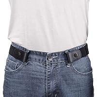 No Buckle Belt Buckle Free Belt Men No Show Belt Elasticated Belt Elastic Belts Durable Invisible Adjustable Waist Belt…