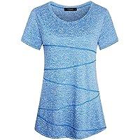 iClosam Women's Short Sleeve Yoga Tops Flowy Fitness Workout T Shirt