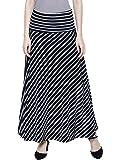 DAMEN MODE Women White & Black Stripe Elegant Skirt