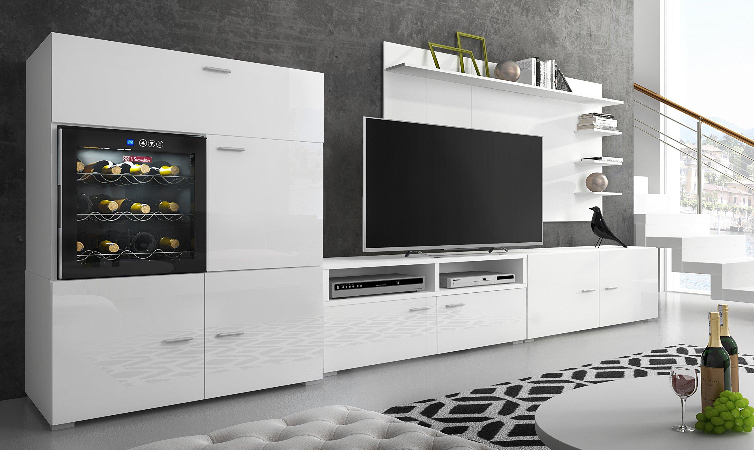 mobile porta tv per parete soggiorno bianco laccato.