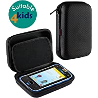 Navitech Black Premium Travel Hard Carry Case Cover Sleeve Compatible With The Vtech Kidicom Advance