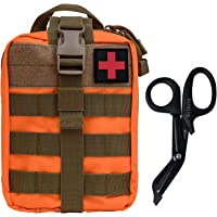 KrisVie Pochette EMT Médecine Tactique Sac étanche Molle de Premiers Secours, Trousse Kit de Premiers Soins Militaires…