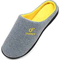 COFACE Pantofole Uomo Scarpe da Casa, Uomini Cotone Ciabatte Inverno Suola di Memoria, Fodera Interna Antiscivolo Caldo…
