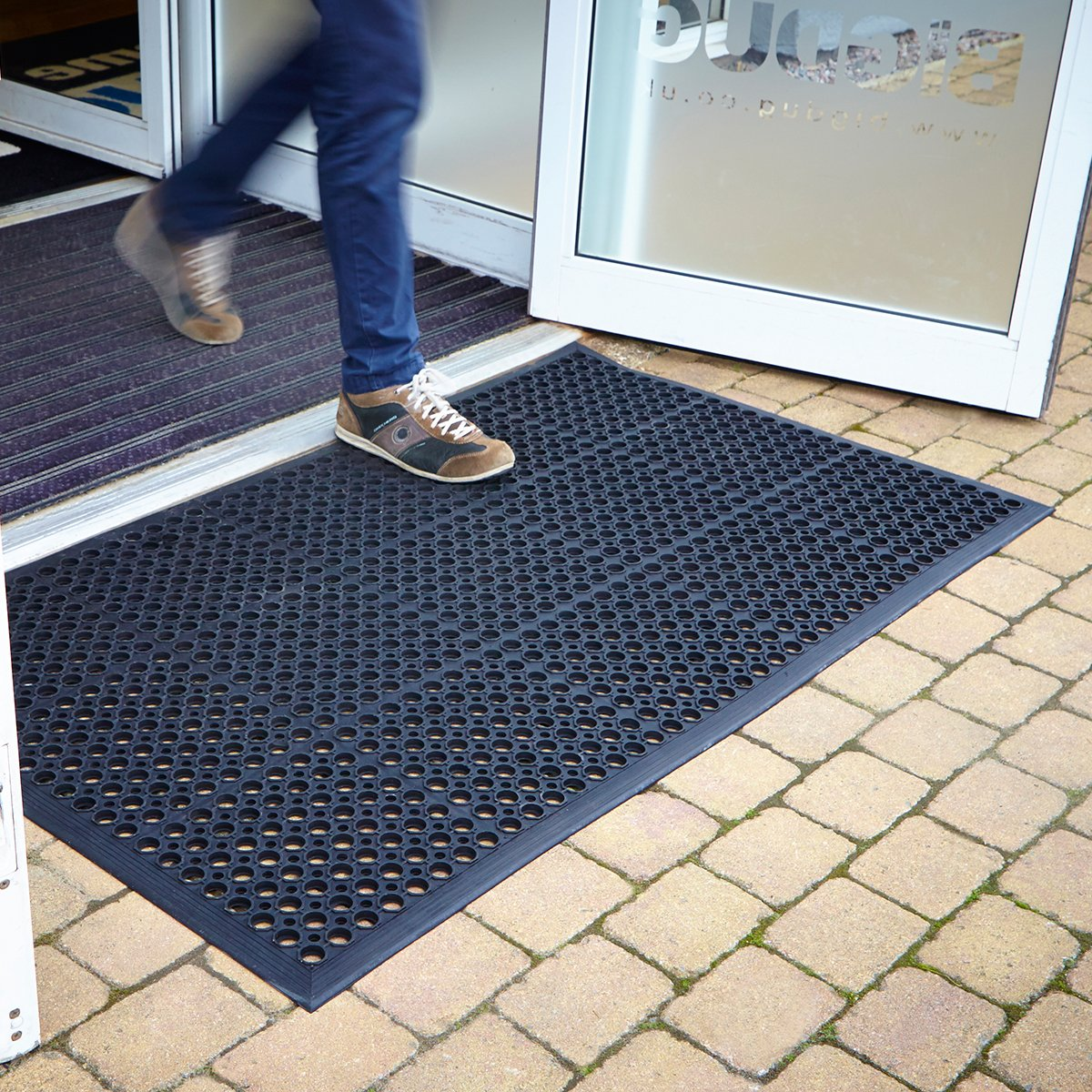 Large Outdoor Rubber Entrance Mats Anti Slip Drainage Door Mat Flooring   3  Sizes Available  0 9m x1 5m  by BiGDUG  Amazon co uk  Kitchen   HomeLarge Outdoor Rubber Entrance Mats Anti Slip Drainage Door Mat  . Outdoor Rubber Tiles Uk. Home Design Ideas