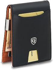 GenTo® Herren Designer-Geldbörse Berlin mit Geldklammer und Münzfach - RFID und NFC Schutz mit TÜV - Innovativer Geldbeutel mit Schiebefach - Geschenk für Männer - mit Geschenkbox | Design Germany …