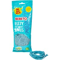 Bebeto Fizzy Blue Raspberry Laces Sweets - Delicious Vegan Sweets Made With Real Fruit Juice & Halal Certified