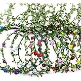 9 Pz Fiori Corona Fascia Capelli,Coroncina bambina Fiore Nastro,Capelli Ghirlanda floreale Foglia,Copricapo Bohémien Multicol