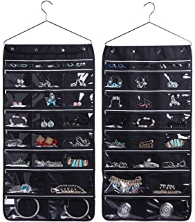MISSLO 8 Zippered Pockets Travel Jewellery Wrap Organiser Roll with Rotatable Ha