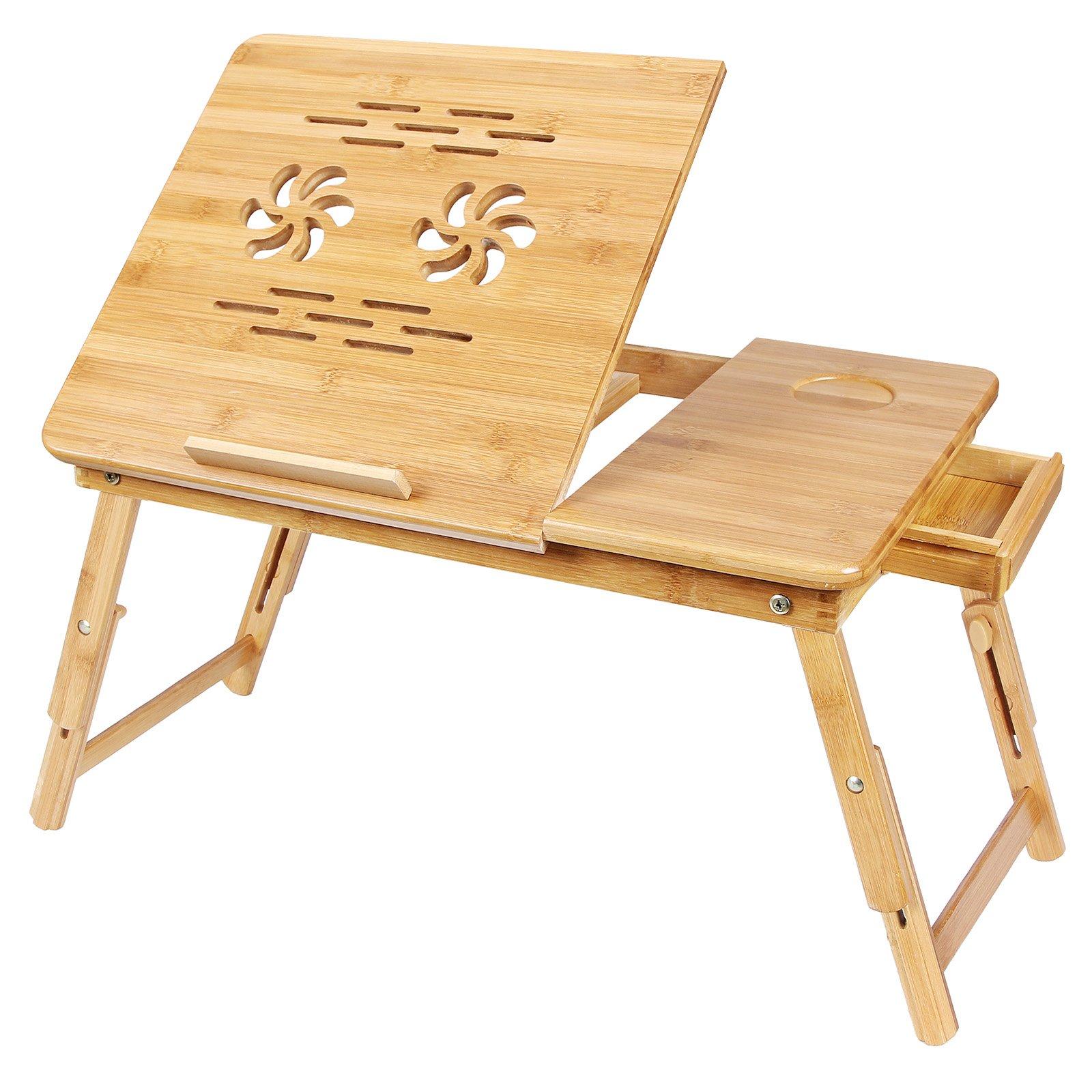 songmics laptoptisch notebooktisch bambus betttisch. Black Bedroom Furniture Sets. Home Design Ideas