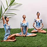 zart Yoga Posture Lady Statue Poly resin Figurine for Home Table Top Living Room Hall Bedroom Shelf Decoration - Yoga Statue