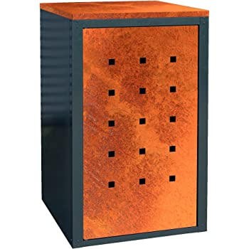 geiger m lltonnenbox metall 120l color anthrazit corten stahl garten. Black Bedroom Furniture Sets. Home Design Ideas