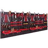 Opslagsysteem, wandrek, 230 x 78 cm, gereedschapshouders, opbergkast, extra sterke wandplaten, uitbreidbaar, werkplaatsrek, o