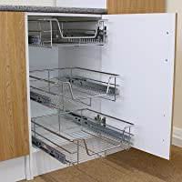 KuKoo – 5 Paniers Coulissants pour Placard ou Cabinet de Cuisine de 60cm. Tiroirs coulissants à système de Fermeture…