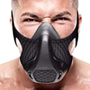 VEOXLINE Training Mask | Sport Workout for Running Biking Fitness Jogging Gym Soccer Cardio Exercise Breathing with Air Leve