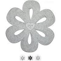 LoFelt® Protections pour poêles et Plats pour empiler poêles, casseroles, Plats etc. - Lot de 5 en XL de diam. 32 cm…