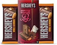 Hershey's Hersheys Bar Valentine Greeting Pack Almond Chocolate Pouch 100 gm (Pack of 2) Pouch, 2 x 100 g