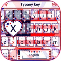 USA Flag Heart Theme&Emoji Keyboard