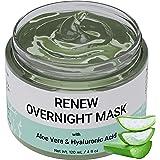 Overnight Mask, Nachtmasker met aloë vera en hyaluronzuur - Hydraterend gezichtsmasker voor nachtelijke huidherstel   Geformu