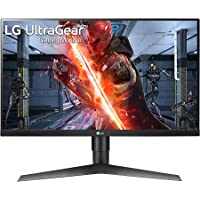LG Ultragear 27-inch IPS FHD, G-Sync Compatible, HDR 10, Gaming Monitor with Display Port, HDMI x 2, Height Adjust & Pivot Stand, 144Hz, 1ms - 27GL650F (Black)