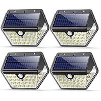 VOOE Lampe Solaire Extérieur 150 LED 4 Packs 2000mAh 1200LM Applique Murale Sans Fil Lumière Solaire avec Détecteur de…