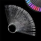 Ealicere 100 Soportes de Exhibición de Esmalte de Uñas Nail Color Display Set Para Nail Design (Transparent)