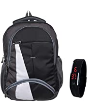 BLUTECH Waterproof,Laptop College School Bag for Boys + Black LED Watch
