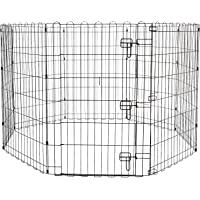 PSK PET MART Foldable Metal Pet Exercise and Playpen with Door, 36 inch