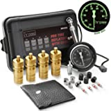 Hromee Automatic Tire Deflators Kit for Offroad Vehicles, Cars, Trucks, Motorcycle 6-30 PSI Adjustable Air Deflating Set with