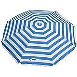 Shelta Australia Parasol de plage Noosa rayé bleu et blanc 180 cm