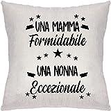ZCHXD Regali di Madre Federa Cuscini per Divani Decorativo Biancheria Cuscino Copricuscini Divano Caso Una Mamma Formidabile