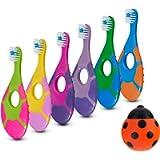 6 Pack - Baby Toothbrush, 0-2 Years, Soft Bristles, BPA Free   Toddler Toothbrush, Infant Toothbrush Includes Free…
