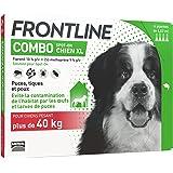 FRONTLINE Combo Chien - Anti-puces et anti-tiques pour chien - plus de 40kg - 4 pipettes
