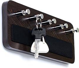 Bluewud Key Hold - Wall Mounted Key Holder/Key Rack Hooks - Skywood Wenge Big