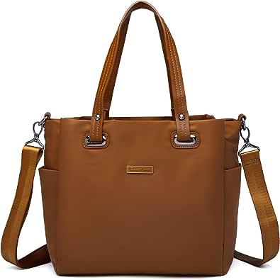 Handtaschen für Frauen, Schultertasche, Handtasche, Satinstoff mit Griff oben
