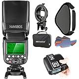 Neewer HSS Maestro Esclavo Flash Speedlite 2.4G 1/8000s Inalámbrico para Cámara Sony con Nuevo Zapato Mi Incluye: NW880S Flas