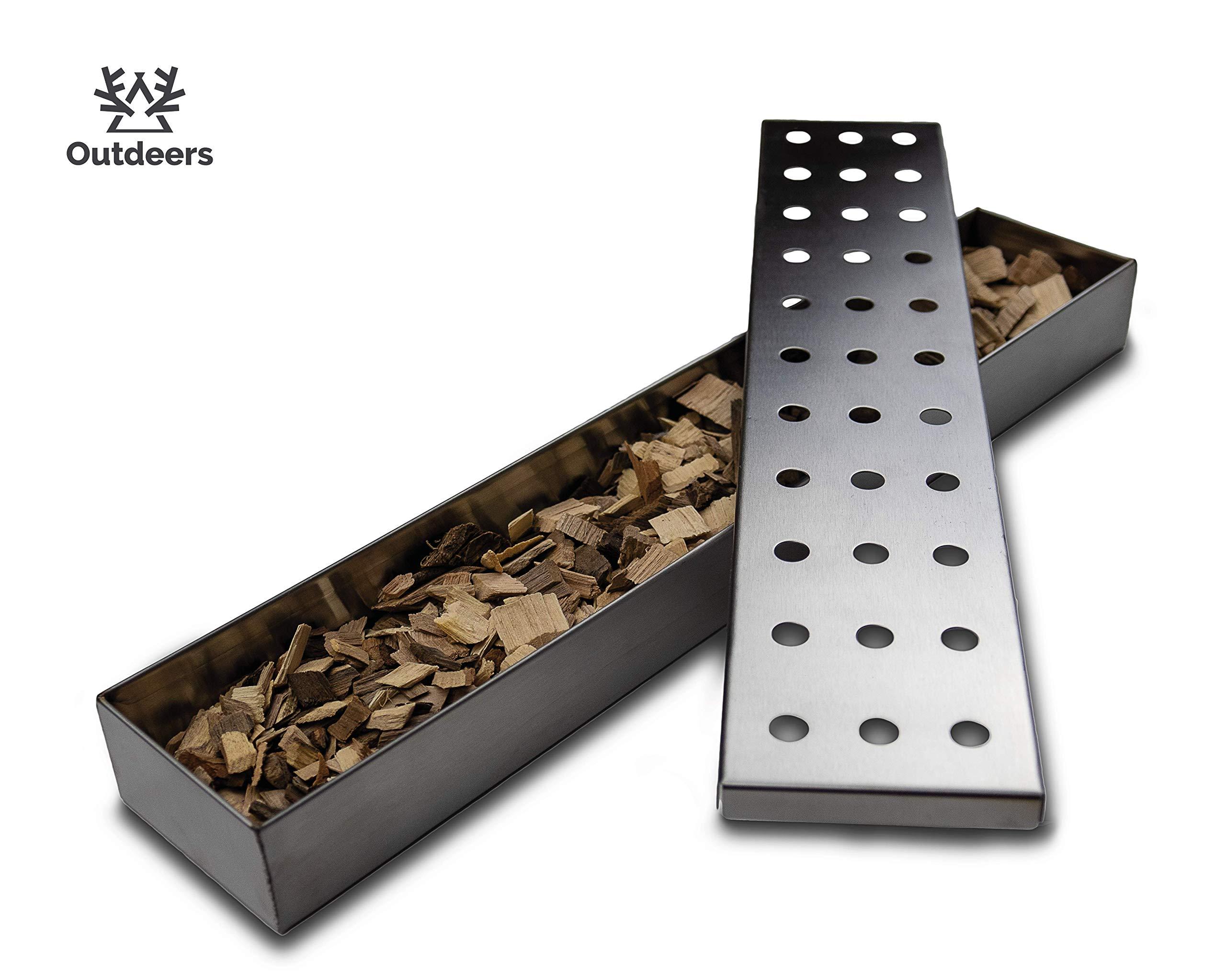Räucherbox Für Gasgrill : Outdeers räucherbox aus rostfreiem edelstahl extralange smokerbox